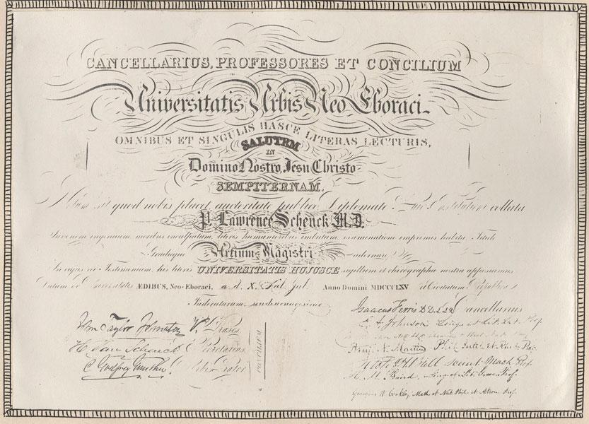 ... diploma 1865 previous schenck s a b diploma next report for